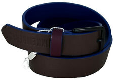 Cintura Uomo Bikkembergs Belt Men Leather Tricolor Db H.3 Color Block Medium D18