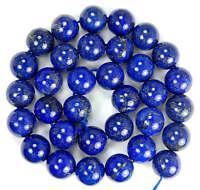"""NEW 10mm Natural Indigo Lapis Lazuli Round Beads 15.5"""""""