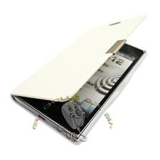 FUNDA FLIP COVER PARA ALCATEL ONE TOUCH POP C7 BLANCA