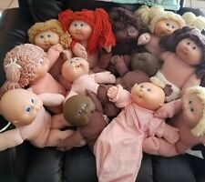 TLC cabbage patch kids well loved lot of 12 babies bean butt and regular size