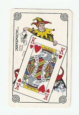 Rare Vintage Collectable Classic King of Hearts Green Single Joker Playing Card