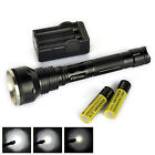 SKYRAY 4000Lumens 3x XM-L XML T6 LED Flashlight Torch 18650 Battery+Charger