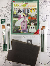 Donna Dewberry One Stroke All Seasons Yard Art Kit Book + 5 Brushes + 10 Heat