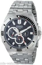Casio MTD1060D-1A Mens Black Dial Stainless Steel Dress Watch 100M Diver NEW