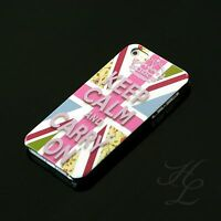 Apple iPhone 5 Hard Case Hülle Cover Etui Motiv Keep Calm And Carry On Fahne