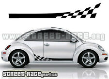 VW Coccinelle Volkswagen racing stripes autocollants 002 damiers graphiques stickers