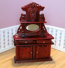 Dollhouse Miniature Furniture ~ Victorian Sideboard in a  Mahogany Finish ~