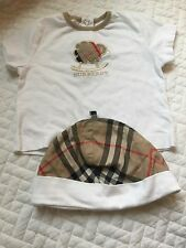 Burberry Baby Lot Hat And Shirt Top Clothes 6-12 Months Girl Boy