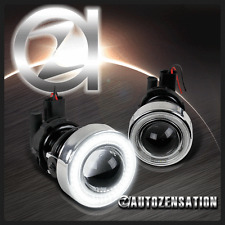 2X Glass Projector Bumper Fog Lights Driving Lamps 40-SMD LED Angel Eye Halo