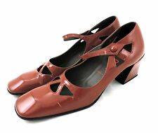 MIU MIU by prada Chaussures 37 cuir verni brun rouge Escarpins escarpins shoes