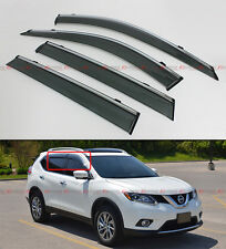 CLIP-ON TYPE SMOKE WINDOW VISOR W/ CHROME TRIM FOR 2014-2017 NISSAN ROGUE S SV