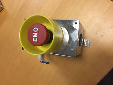 Allen Bradley 8OOEP EMO TTR  E-Stop w Guard IN A POLISHED STAINLESS STEEL ENCL.