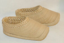Vintage Chinese Woven Braided Straw Hand woven Farmers Shoes  size 11
