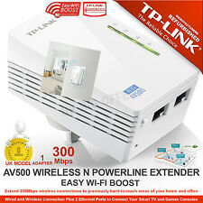 TP LINK AV500 WiFi Powerline Extender 300Mbps Ethernet HomePlug Bridge 2-Ports