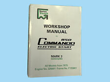 NORTON COMMANDO MARK 3, 850 ELECTRIC START WORKSHOP MANUAL.PART NUMBER 00-4224.