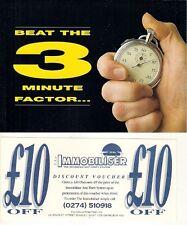 Falcon Automotive Immobiliser Early 1990s UK Market Sales Brochure & Voucher