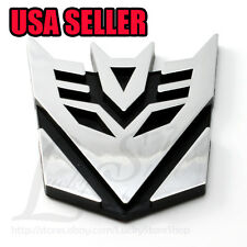 "Medium 3"" Decal Car Auto Plastic Sticker Transformers DECEPTICON Badge 3D LOGO"