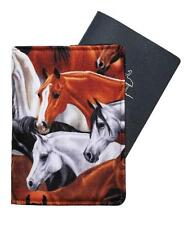 PASSPORT COVER/FOLDER/WALLET - HORSES #1 hand crafted by Graggie Australia*GA