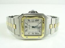 CARTIER SANTOS STAHL/18kt. GOLD AUTOMATIC HERRENUHR GENTS WATCH OROLOGIO MONTRE