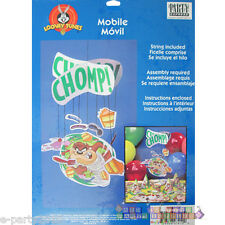 LOONEY TUNES Taz Chomp HANGING MOBILE DECORATION ~ Birthday Party Supplies Vtg