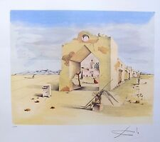 Salvador Dali PARANOIC VILLAGE Signed Limited Edition Lithograph
