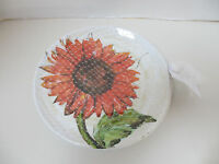 Pottery Barn  Set of 4 Sunflower  Melamine  9 Inch Plates NEW WITH TAG