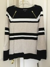 Women INC International Concepts Deep Black Colorblocked Sweater Sz XL