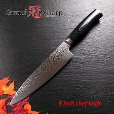 NEW 8 Inch Chef Knife Damascus Japanese Stainless Steel VG-10 Core Kitchen Knife