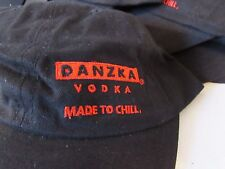 Danzka Vodka Made to Chill Black Ball Cap Hat 2004 Never Worn Adj Cloth Strap