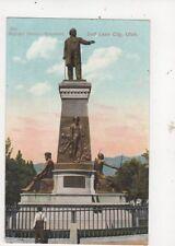Brigham Young Monument Salt Lake City Utah Vintage Postcard USA 513a