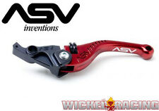 Yamaha R1 2004 05 06 07 08 09 10 11 12 13 14 ASV F3 Lever Set Red Short