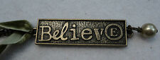 v BELIEVE charm PENDANT velvet ribbon Necklace Kelly Rae Roberts Jewelry