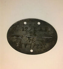 German WW2 LAH Dog Tag