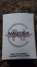 Vintage VTG NAUTICA Competition AM/FM Stereo Cassette Player Walkman BRAND NEW
