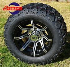 "GOLF CART 10"" SPIDER WHEELS/RIMS and 18""x9""-10"" DOT ALL TERRAIN TIRES (4)"