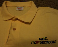 NWOT Mens Embroidered DELTACOM NEC ITC Network Communications Polo Shirt Large