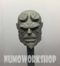 "Hellboy 1/6 Scale CUSTOM UNPAINT HEAD for 12"" Body Figure by Numo ** New"