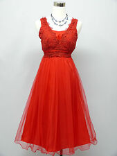 Cherlone Red Prom Party Ball Evening Wedding Bridesmaid Formal Dress Size 12-14