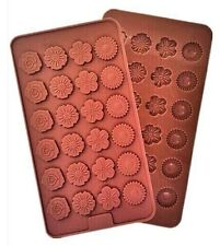 Flowers Candy Designs 24 Cavity Silicone Mold for Fondant, Gum Paste, Chocolate