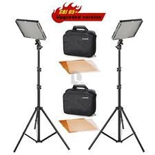 Aputure AL-528W + AL-528S LED Video Light Slim lighting Stand Kit f Canon Nikon
