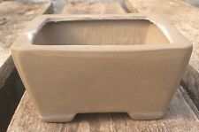 Small Square Natural Footed Terra Cotta / Clay Bonsai Plant Pot with Drainage :)