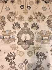 Intuitive Indo Oushak - Indian Rug - Beige Oriental Turkish Carpet - 9 x 12 ft.