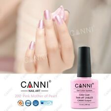 200 Canni Madre De Perla Rosa UV Led Soak Off Gel Colores Nail Art 7.3ml
