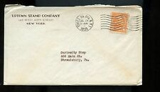 US Stamp Dealer Advertising Cover (Uptown Stamp Co) 1935 NYC to Stroudsburg, Pa