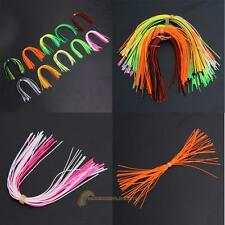 10 Bundles 50 Strands Silicone Fly Tying Squid Skirts Fishing Rubber Jig Lures
