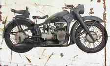 BMW R12 Army 1938 Aged Vintage SIGN A4 Retro
