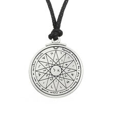 Wiccan Talisman of Wisdom Key of Solomon Pentacle Seal Pendant Kabbalah Necklace