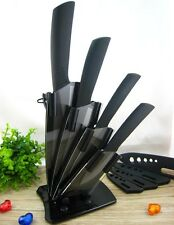 "3""+4""+5""+6""+Peeler+ Knife Holder Ultra Sharp Kitchen Ceramic Cutlery Knives Set"
