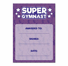 16 A6 Super Gymnastics Special Award Certificates / Childrens Reward