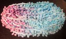 "Pastel POM POM BOBBLE TRIM FRINGE Multicolored pompoms - Ball 1cm (0.4"") - 1m"